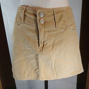 Blue Asphalt Corduroy Micro Mini Tan Skirt Size 5
